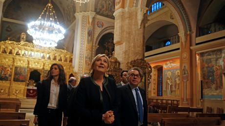 Marine le Pen en visite au Liban
