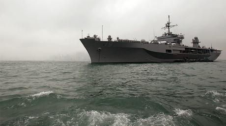 L'USS Blue Ridgey, vaisseau amiral de la septième flotte de la Marine américaine