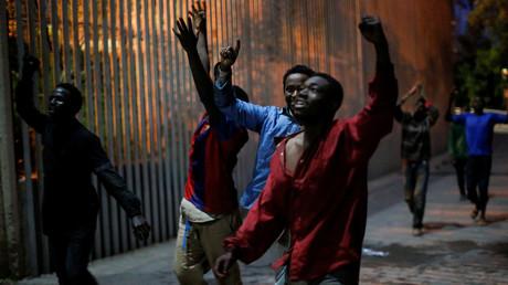 Des migrants, rentrés en Espagne depuis le Maroc