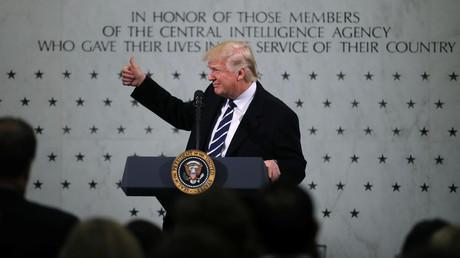 Donald Trump lors de son discours à la CIA, Langley, Etats-Unis.