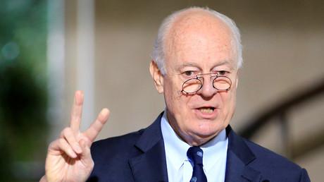 Staffan de Mistura, envoyé spécial chargé de la recherche d'une résolution pacifique au conflit syrien