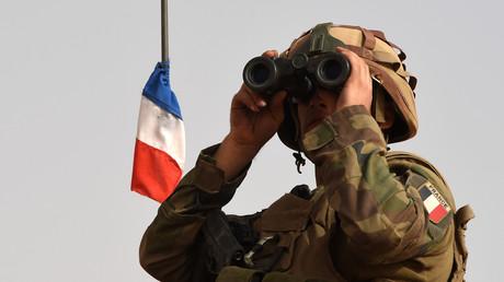 Un soldat français participant à l'opération Barkhane