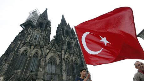 Un manifestant pro-Erdogan à Cologne (photo d'illustration)