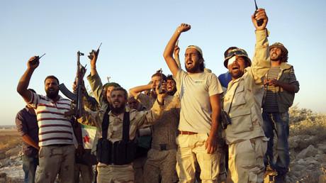 Les combattants de l'armée syrienne libre en Syrie.
