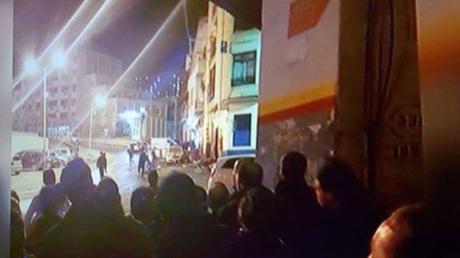 Les environs du site frappé par une explosion à Constantine, le 26 février, selon un internaute