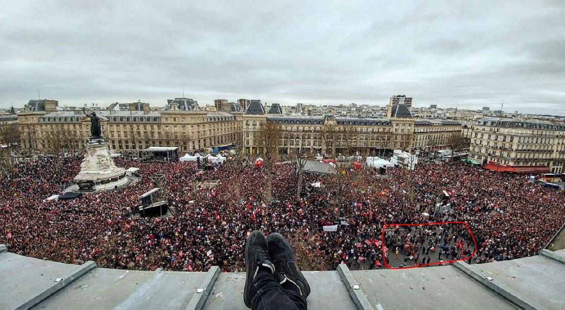 Les pro-Mélenchon trollent les chiffres de la manif de Fillon... mais semblent gonfler les leurs