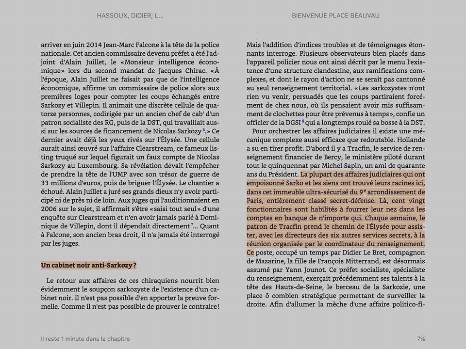 «Bienvenue Place Beauvau» : le livre sur les secrets de la police en «Hollandie» en rupture de stock