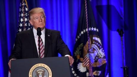 Donald Trump lors de son premier discours devant le Congrès