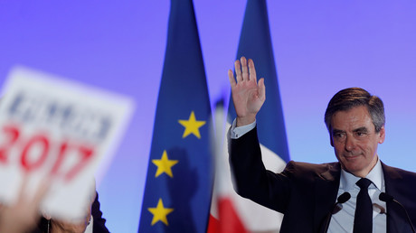 Francois Fillon à Maisons-Alfort, le 24 février