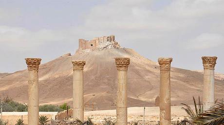 La vieille citadelle de Palmyre