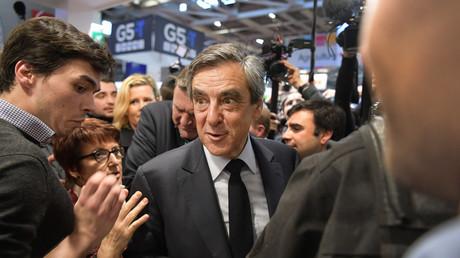 Le candidat à l'élection présidentielle française François Fillon