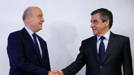 Alain Juppé et François Fillon au soir de la primaire de la droite et du centre