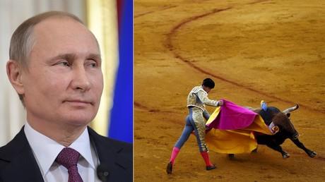 Vladimir Poutine en toréro, héros d'un film d'animation finlandais