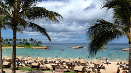La plage de Ko'Olina sur l'île d'Oahu à Hawaï (image d'illustration)