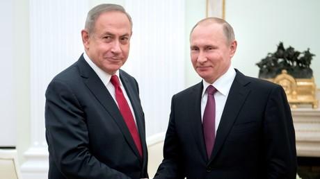 Benyamin Netanyahou et Vladimir Poutine à Moscou, le 9 mars 2017