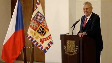 Le président tchèque Milos Zeman annonce qu'il se représentera en 2018, lors d'une conférence de presse à Prague, le vendredi 10 mars 2017
