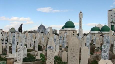 Vue du cimetière de Bab al-Saghir à Damas, en Syrie