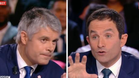 Laurent Wauquiez et Benoît Hamon