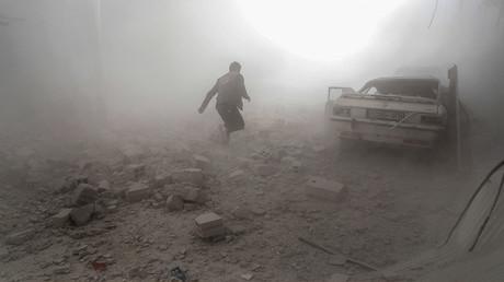 Combats à Damas en Syrie, le 25 février 2017, photo ©Sameer Al-Doumy / AFP