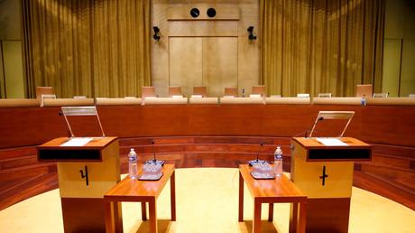 La salle principale de la Cour européenne de justice à Luxembourg