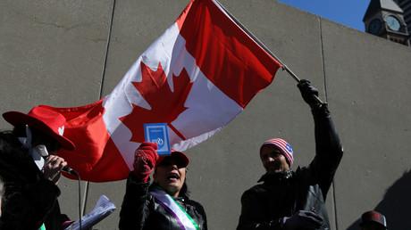Une manifestation contre l'islamophobie au Canada