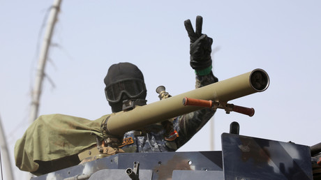 Un membre de la police fédérale irakienne à Mossoul