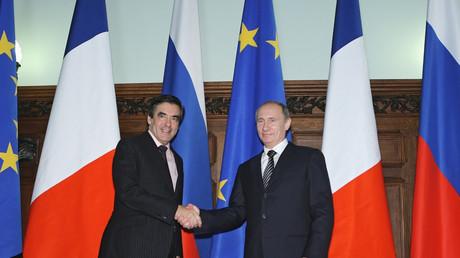 François Fillon et Vladimir Poutine