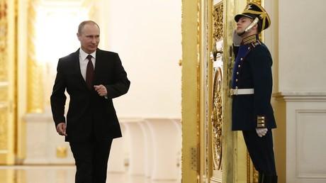 Le président russe Vladimir Poutine au Kremlin