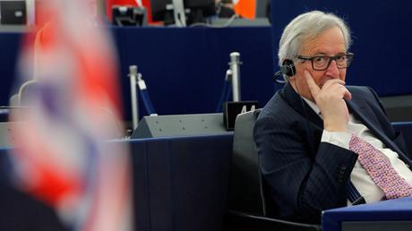 Jean-Claude Juncker, président de la Commission européenne lors des débats la veille de l'anniversaire du traité de Rome, mars 2017.