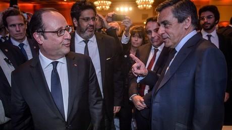 François Fillon et François Hollande au dîner du CRIF