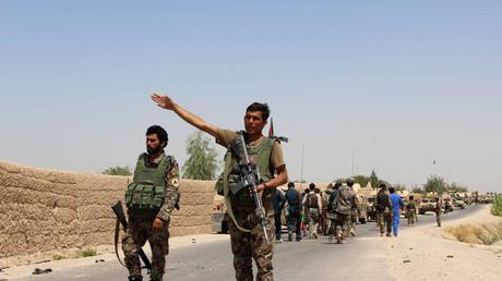 Des troupes de l'armée gouvernementale afghane dans la région du Helmand en août 2016
