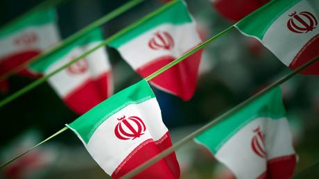 Des drapeaux iraniens (photographie d'illustration)