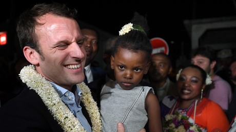 Emmanuel Macron à Mayotte (Photographie d'illustration)
