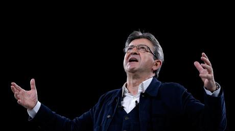 Jean-Luc Mélenchon lors d'un meeting
