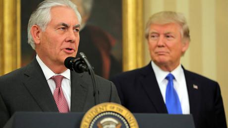 Le secretaire d'Etat Rex Tillerson et le président américain Donald Trump