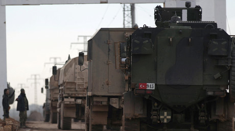 Les véhicules militaires turques en Syrie