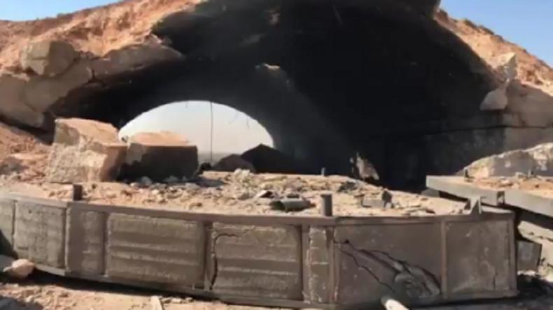 Premières images de la base syrienne d'Al-Chaayrate après les frappes américaines (VIDEO)