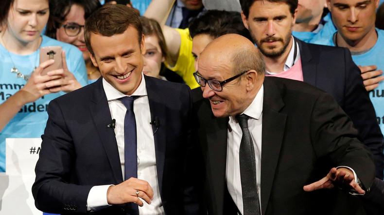 «Peut-être à bientôt» lance un ponte de Bruxelles à Jean-Yves Le Drian, soutien d'Emmanuel Macron