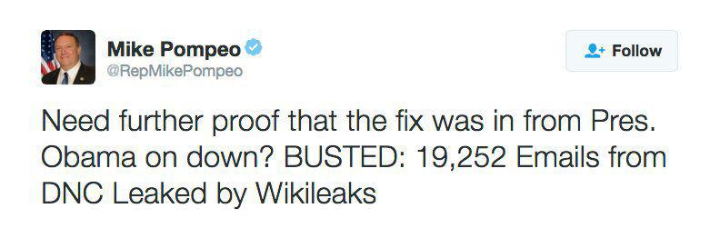 Pour le patron de la CIA, WikiLeaks est un «service de renseignement hostile»