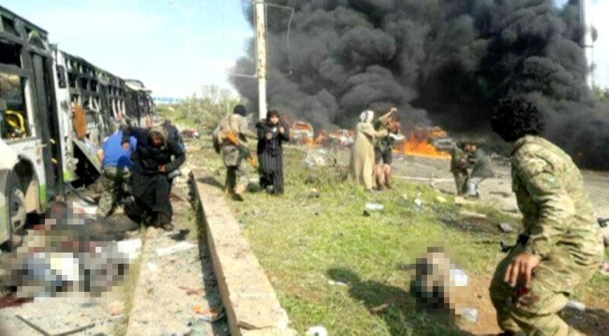 Syrie : un attentat contre un convoi de bus près d'Alep a fait des dizaines de morts