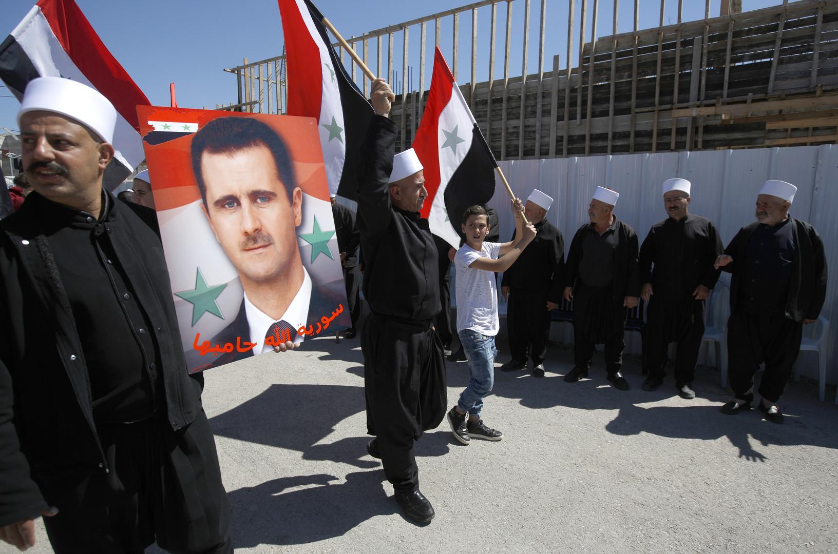 Golan occupé : des centaines de manifestants commémorent l'indépendance de la Syrie (PHOTOS)
