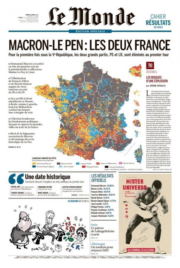 La «confrontation peuple-élites» : la presse française et étrangère réagit aux résultats du 1er tour