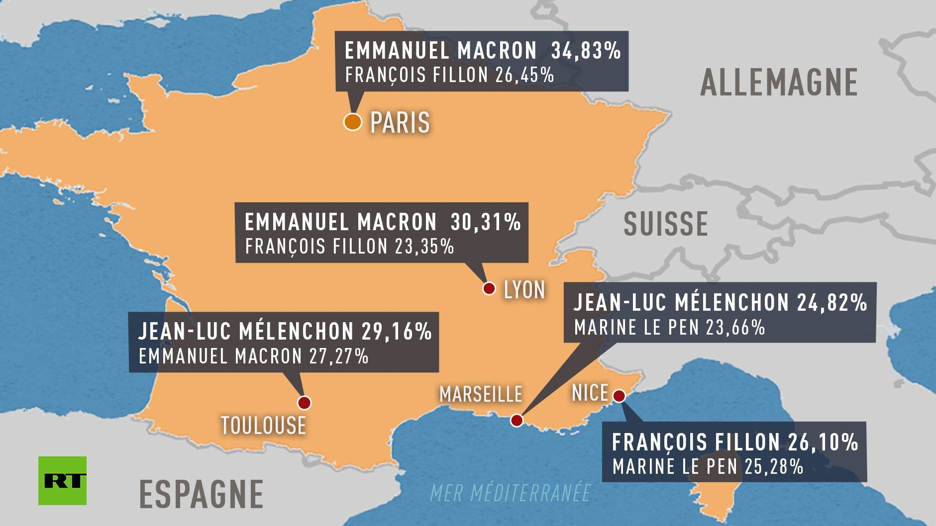 Qu'ont voté les habitants des cinq plus grandes villes de France ?