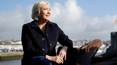 Marine Le Pen à Concarneau, le 31 mars