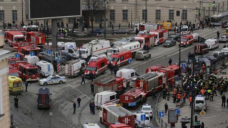 Station de métro où les explosions ont eu lieu, Saint-Pétersbourg