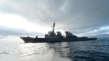 Le destroyer américain USS Ross en Méditerranée orientale