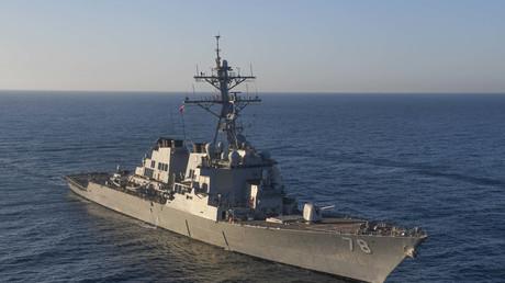 Le destroyer USS Porter (DDG 78) dans la mer Méditerranée