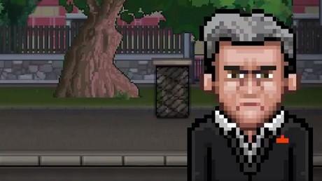 Le personnage de Jean-Luc Mélenchon, tout en pixels