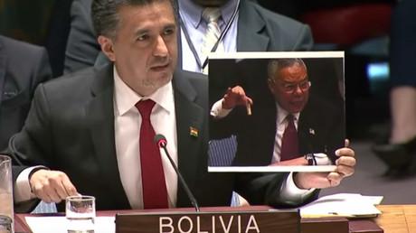 L'ambassadeur de Bolivie auprès des Nations unies, Sacha Llorenti
