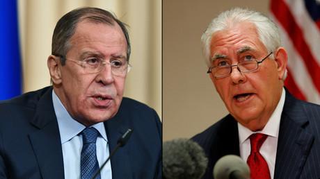 Le ministre russe des Affaires étrangères Sergueï Lavrov et le secrétaire d'Etat américain Rex Tillerson